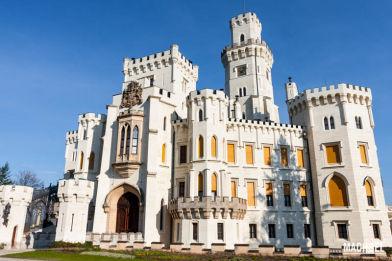 Castillo de Hluboká nad Vltavou, cerca de České Budějovice, República Checa, Europa