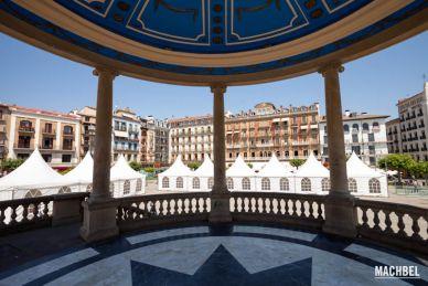 Visitando la ciudad de Pamplona, Navarra, España