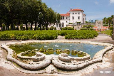 Visitando la mansión Villa Vizcaya, Miami, Florida, Estados Unidos