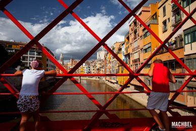 Visita a la ciudad de Girona en Cataluña, España