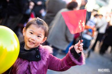 Celebración del año nuevo Chino de 2012 en la Puerta del Sol, Madrid, España