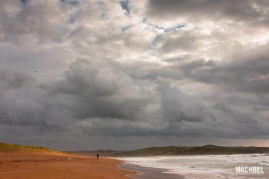 Playa de Valdearenas en Cantabria, España