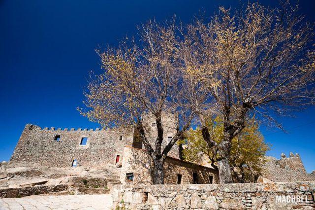 Castillo de Montánchez Vista frontal del castillo de Montánchez con un gran árbol delante. Montánchez Extremadura 640x426 7 pueblos de Extremadura que tienes que visitar (parte I)