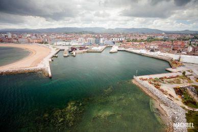 Paseo en globo por Gijón, Asturias, España