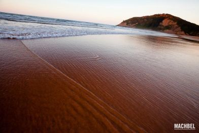 Playa de Rodiles en Villaviciosa, Asturias, España