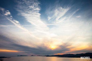 Vigo desde el océano Atlántico. Galicia, España