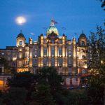 Luna sobre Edimburgo, Escocia
