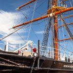 Barco RRS Discovery, empleado en la exploración antártica por Scott y Shackleton