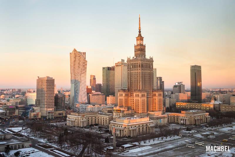 Centro de varsovia y palacio de la cultura y la ciencia visita a