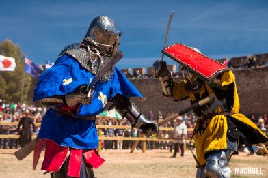 Campeonato del mundo de combate medieval en Belmonte, España Mayo 2014
