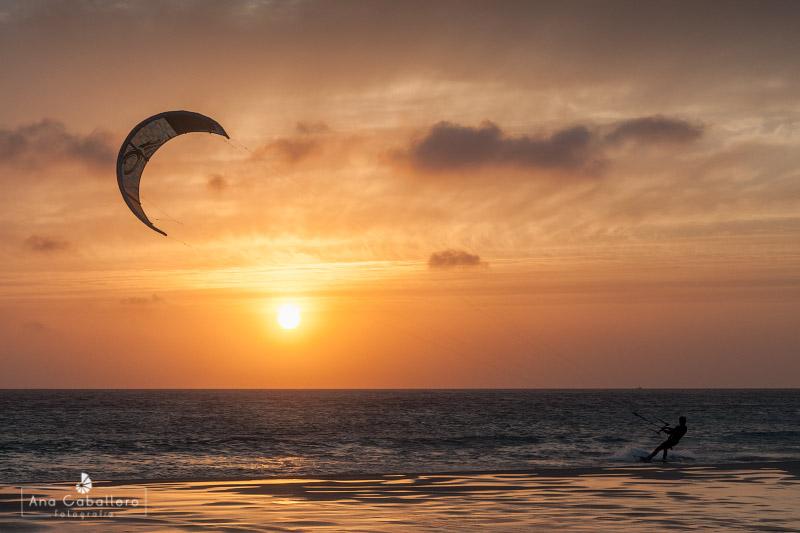 Puesta de sol en kite