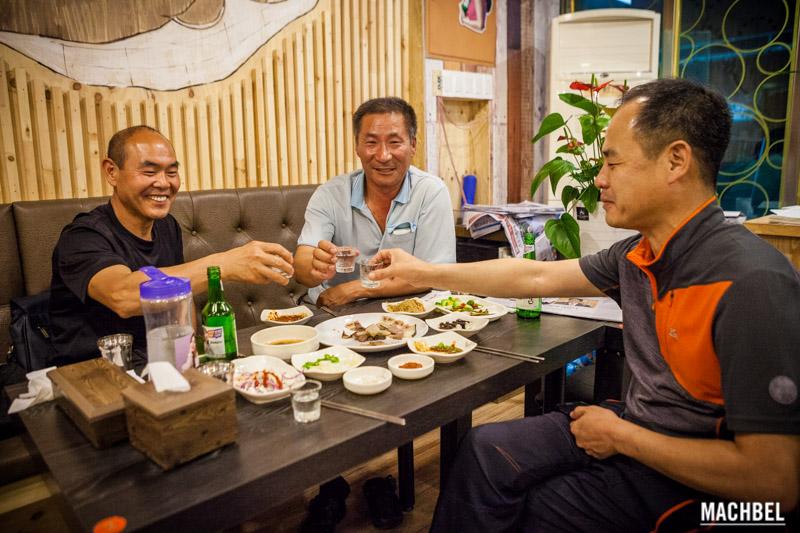 Coreanos a la mesa