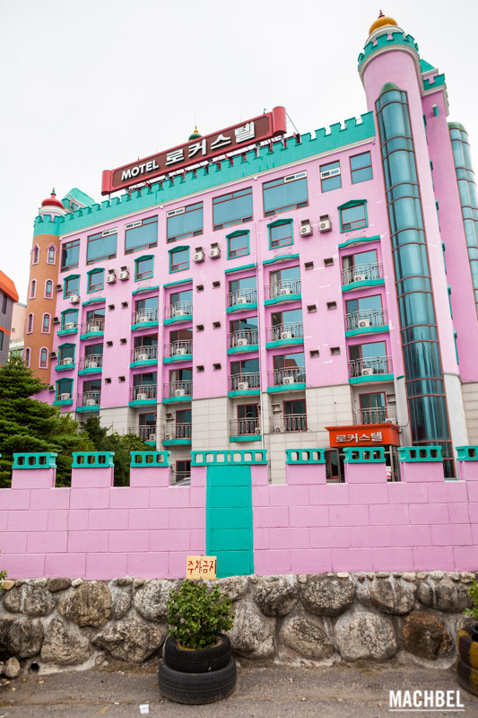 Hotel de colores en Corea del Sur