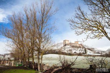 Castillo de Argüeso nevado