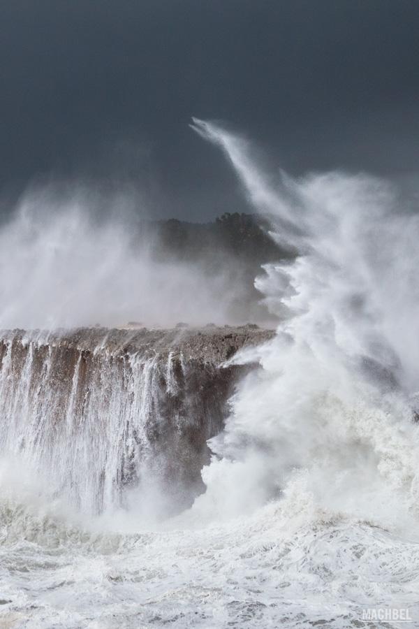 Olas que pueden llegar a ocurrir en Asturias, España
