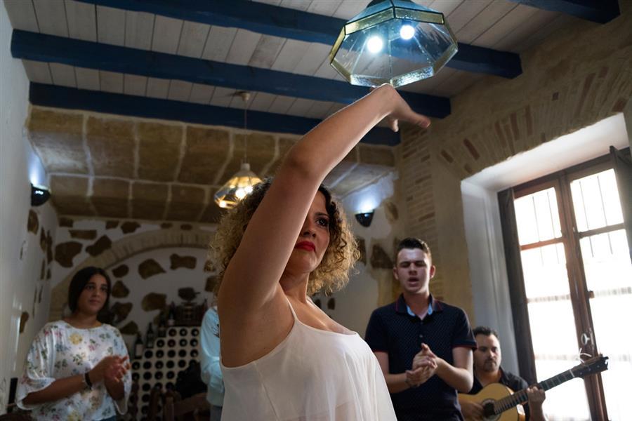 Actuación de flamenco improvisada en el Restaurante el Arco
