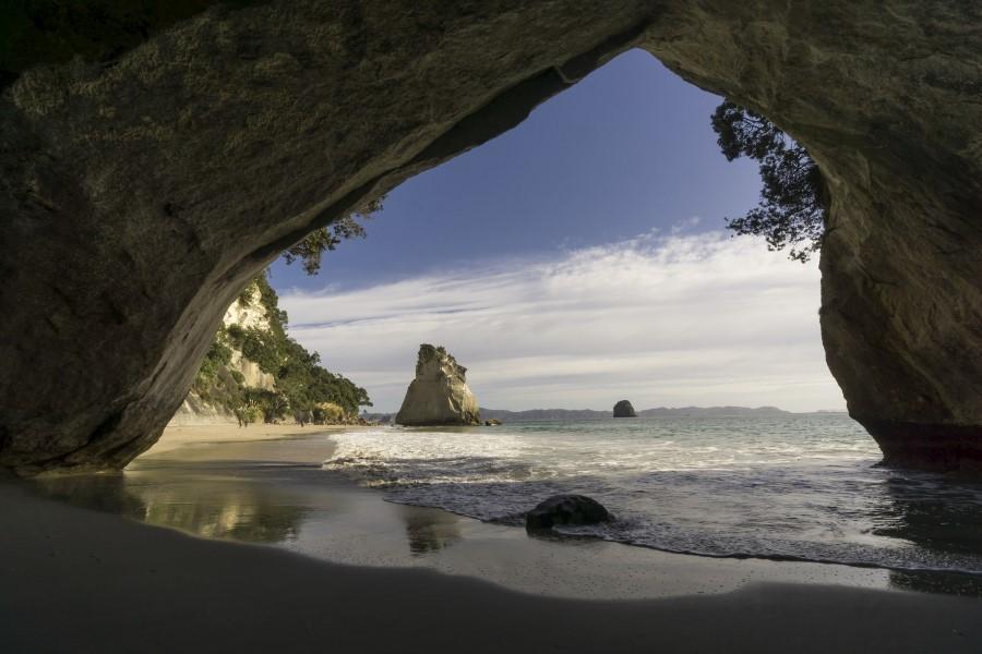 Playa oculta en Coromandel Peninsula