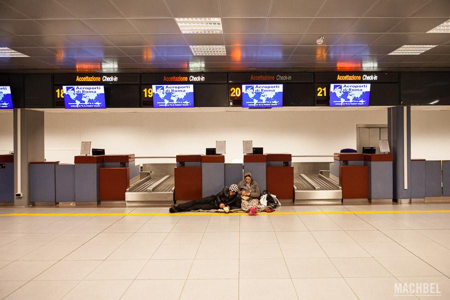 Durmiendo en el aeropuerto