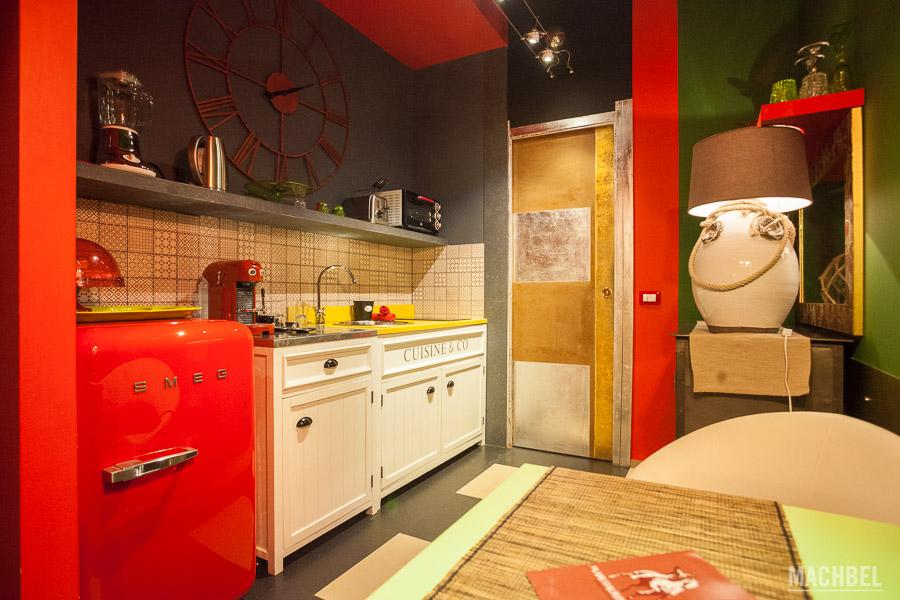 Cocina del apartamento Marco Aurelio