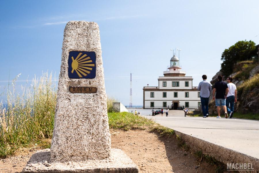 Inicio del camino en el Faro de Finisterre