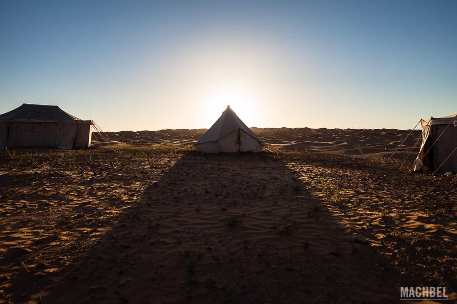 Jaima del desierto en la que pasar la noche