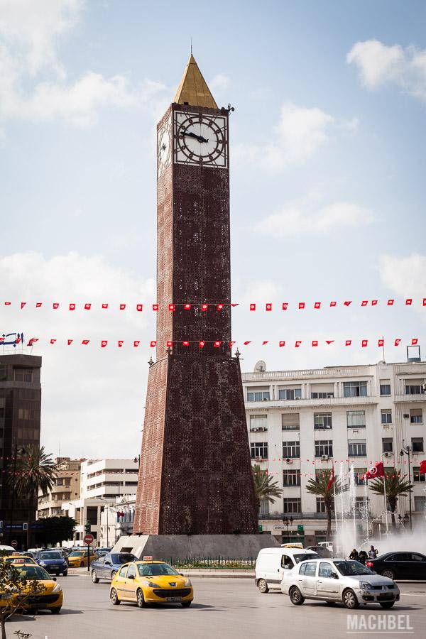 Torre del reloj en Túnez