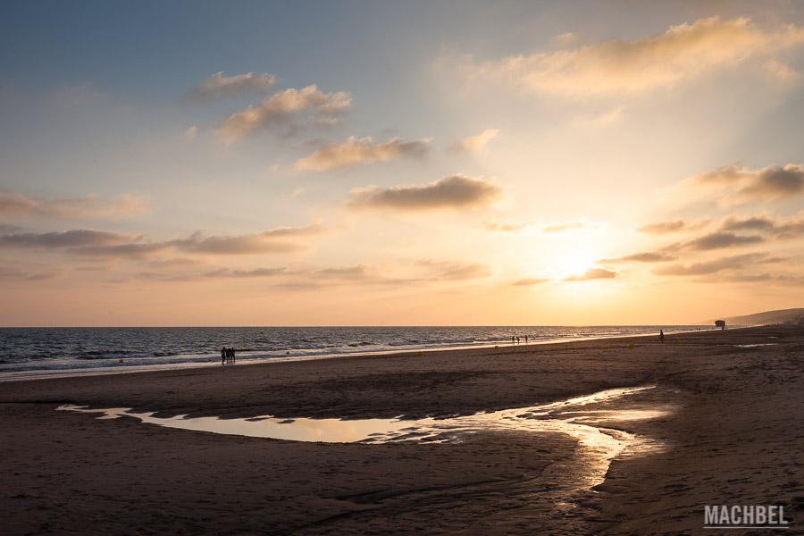 Playa de Matalascañas al atardecer