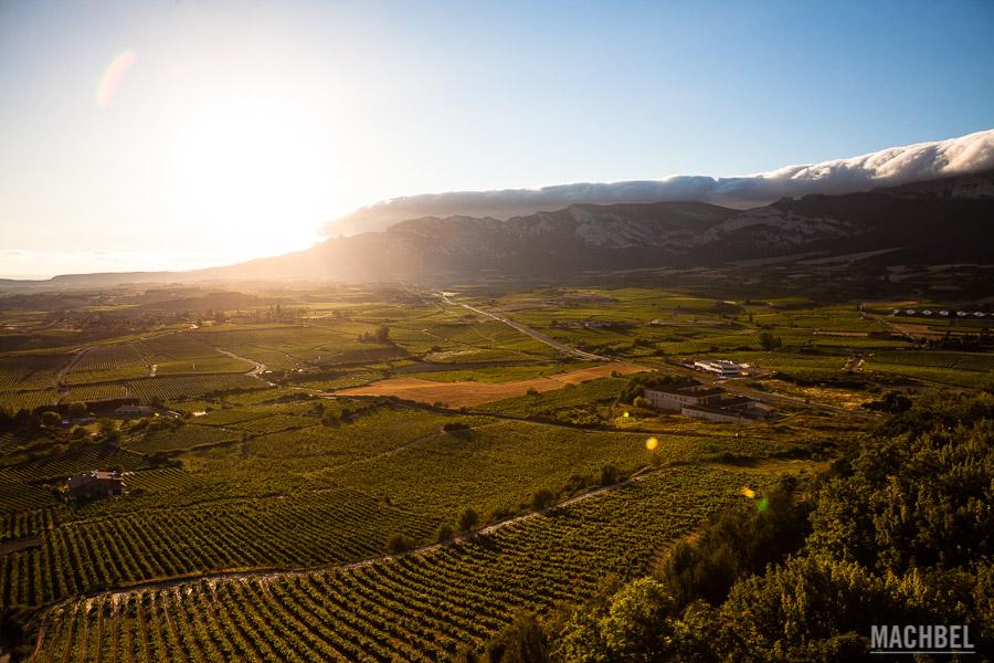 La Sierra de Cantabria desde Laguardia