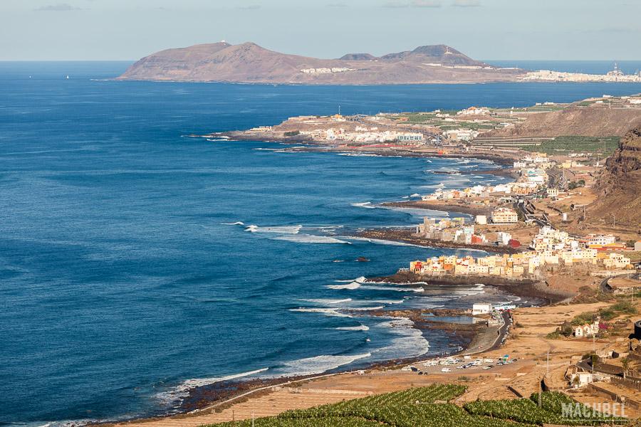 Costa norte con Las Palmas al fondo