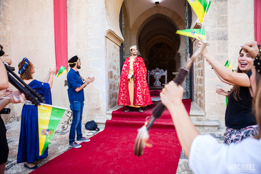 Audiencia con Alfonso X El Sabio en el castillo