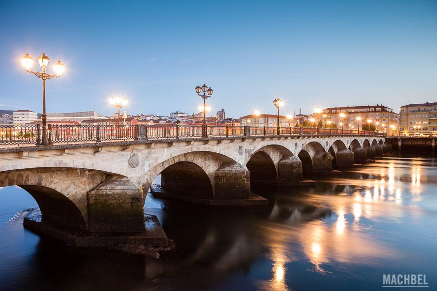 Puente del Burgo al atardecer