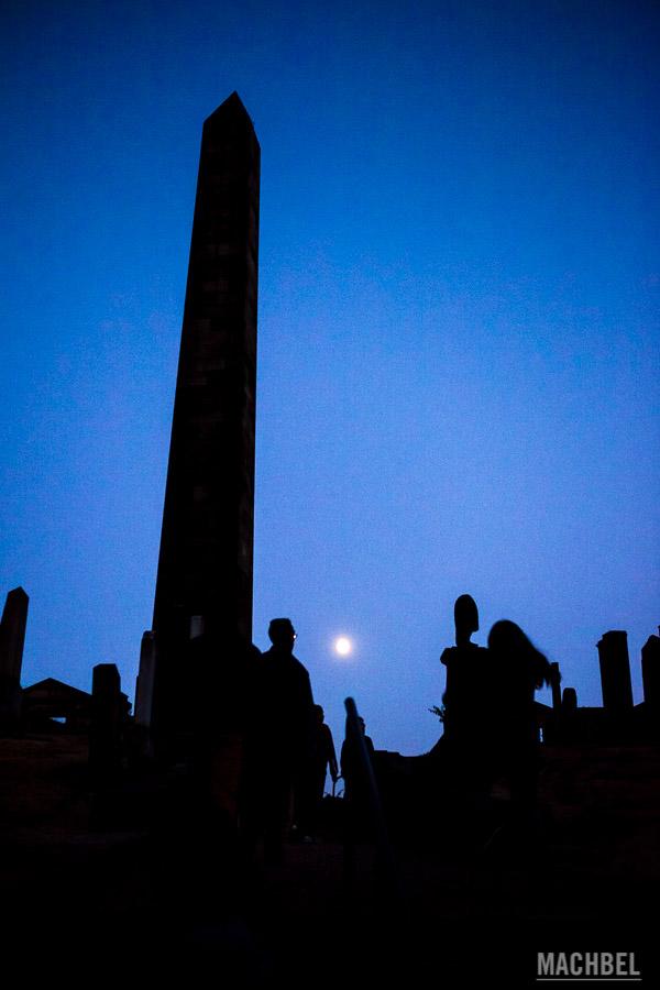 Old Calton Cementery de noche