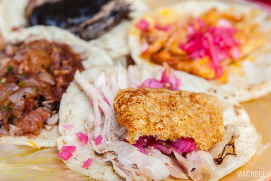 Tacos variados mexicanos