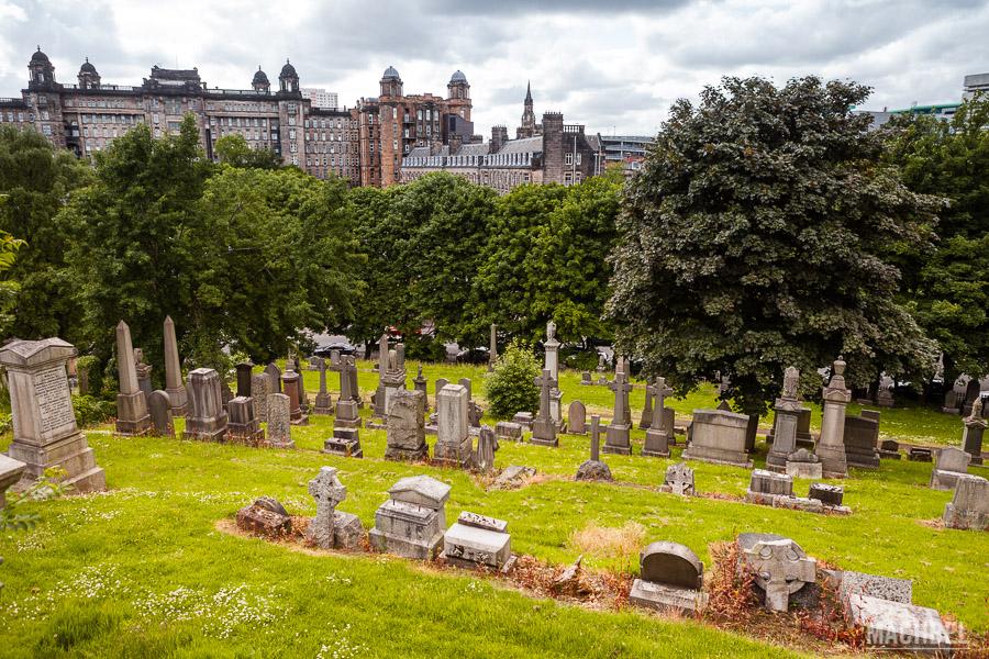 Vistas a Glasgow desde la necrópolis