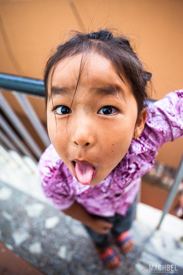La pequeña niña nepalí