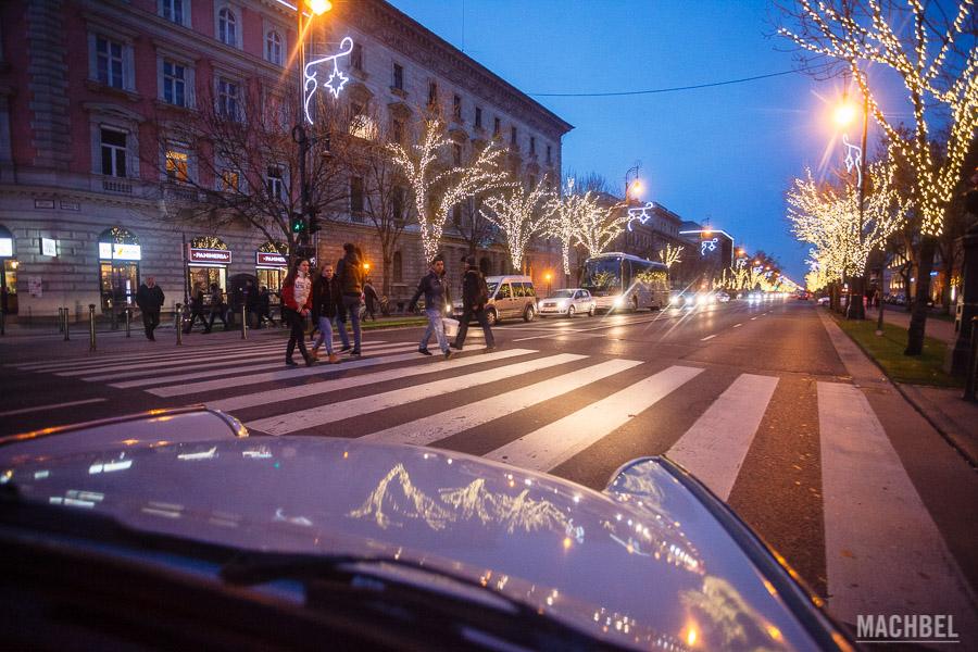 Luces de navidad en Budapest