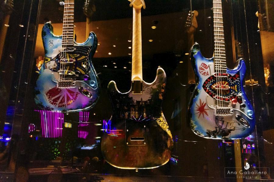 Guitarras de celebridades del rock