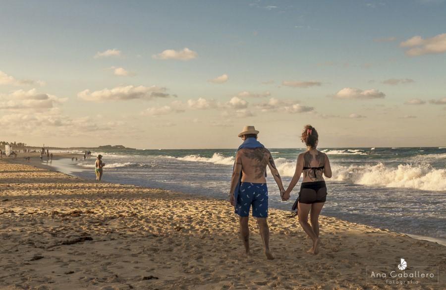 Paseando por la playa de Punta Cana