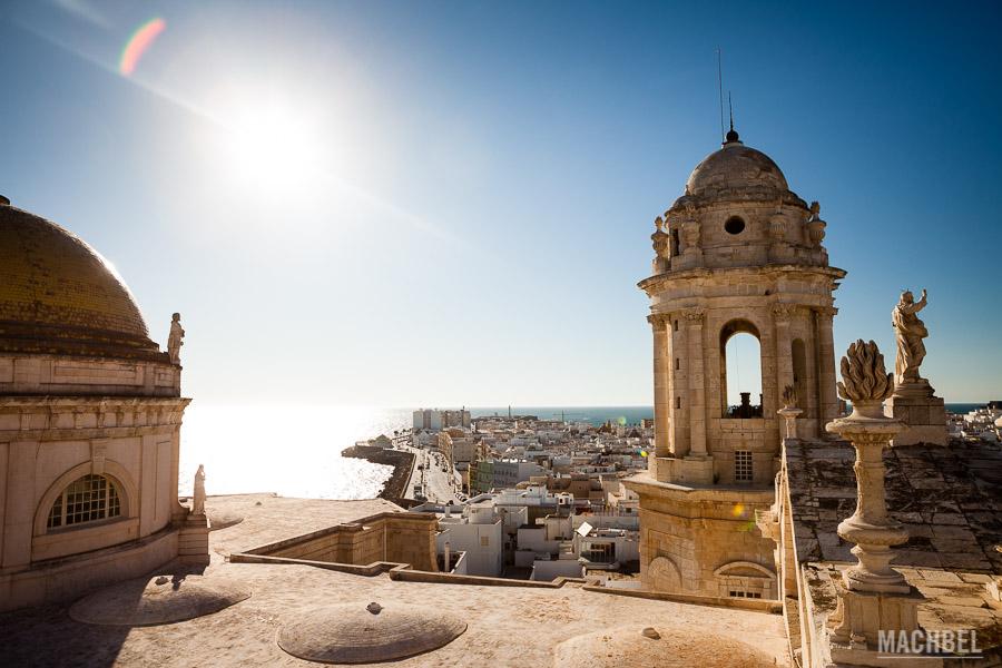 Vistas desde lo alto de la Catedral de Cádiz