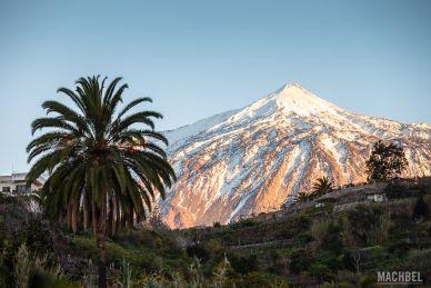 El Teide nevado desde Icod de los Vinos