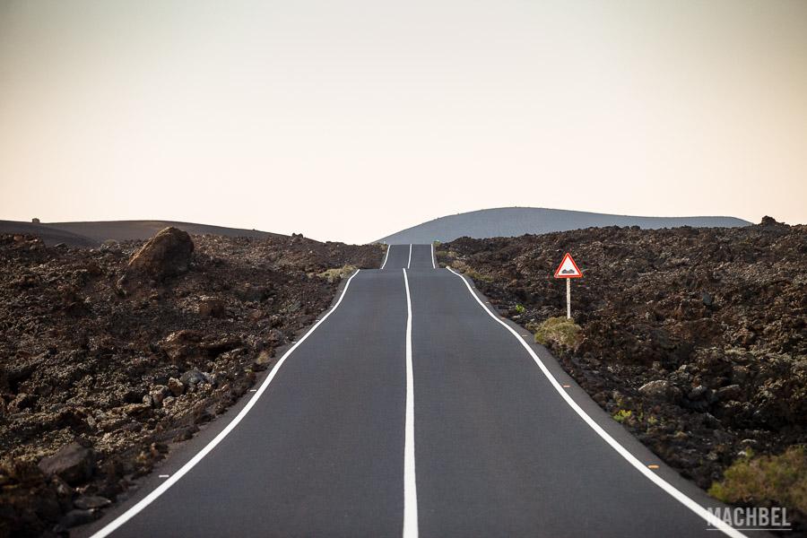 Carretera en la Geria