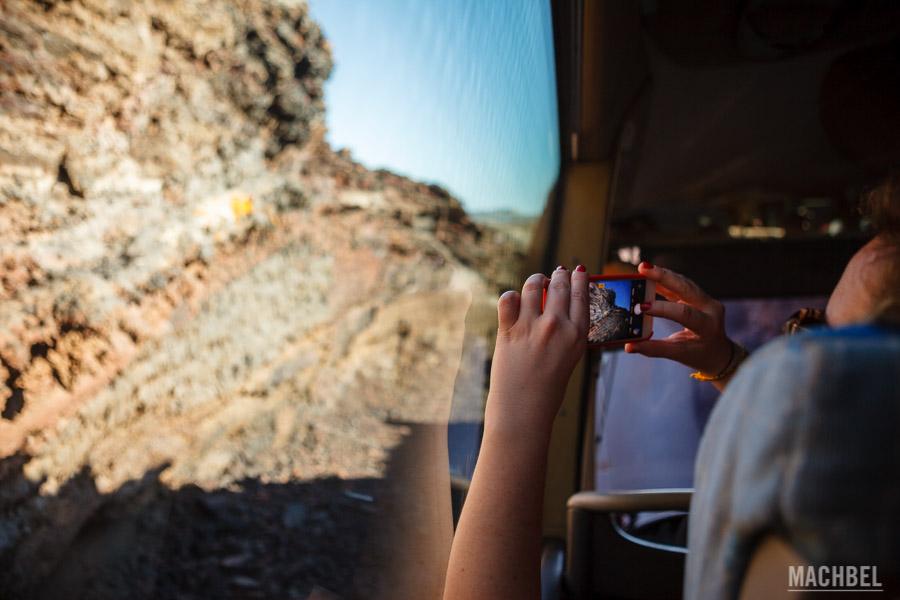 Fotografiando en la excursión por Timanfaya