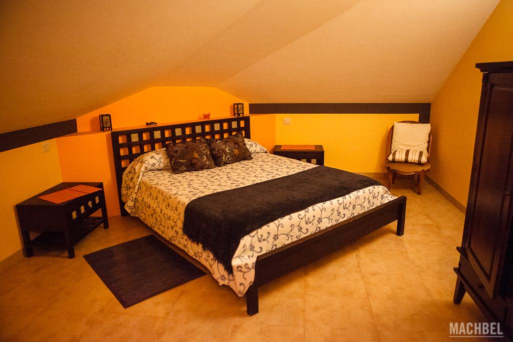 Habitación del albergue de Berducedo