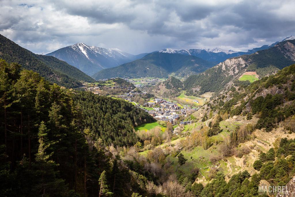 Vista aérea del valle de Ordino