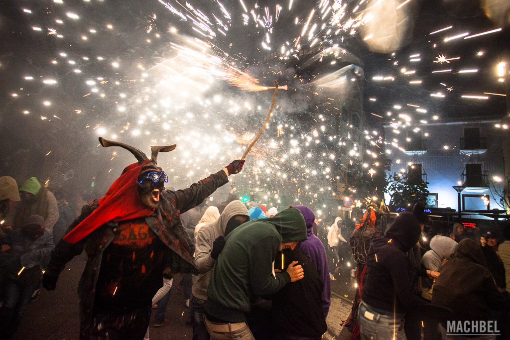 Correfocs en Palma de Mallorca durante la celebración de San Sebastiá