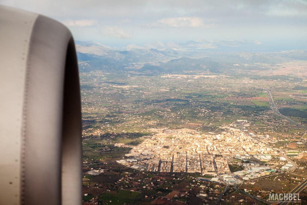 Paisajes de Mallorca desde el avión