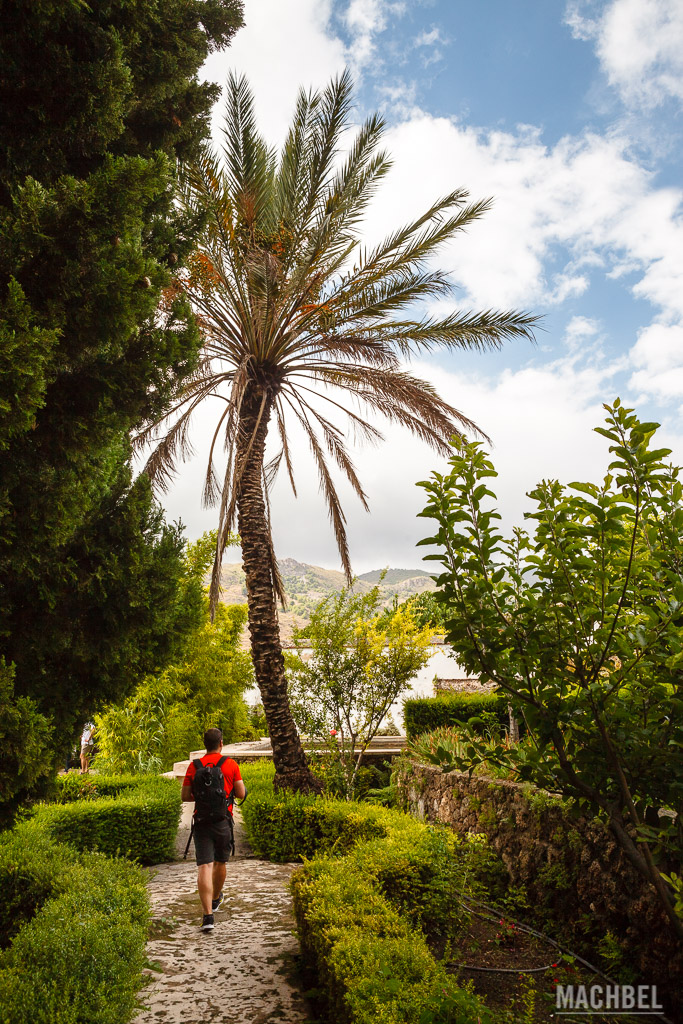 Visitando el jardín Nazarí