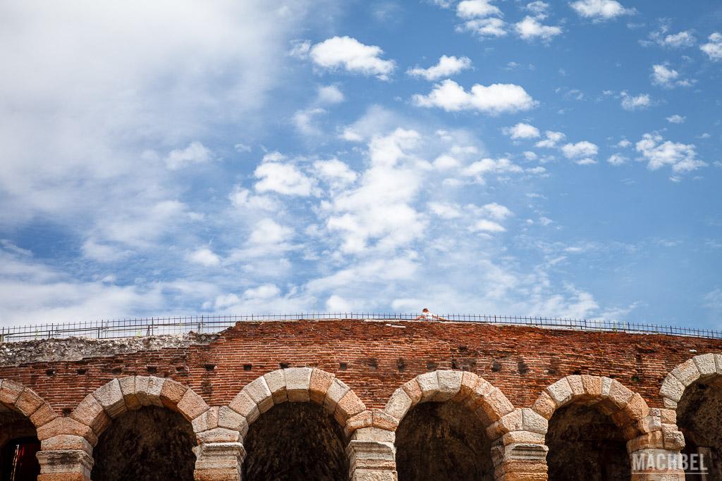 Parte superior de la Arena de Verona