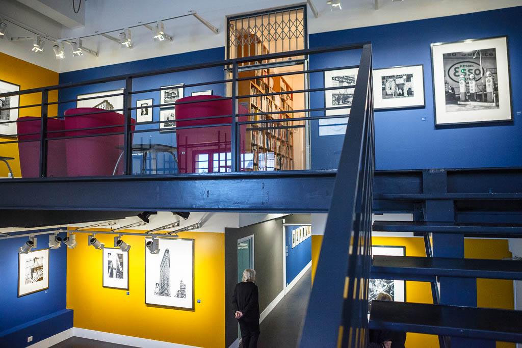 Interior del museo de la fotografía de Niza