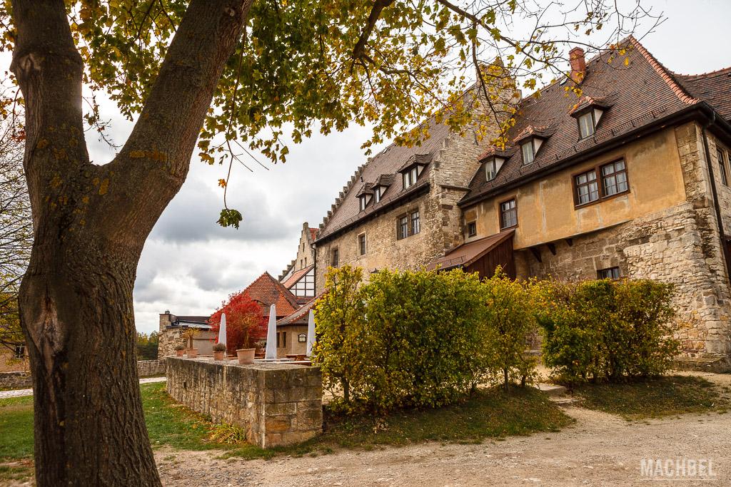 Patio del Castillo Neuenburg en Freyburg